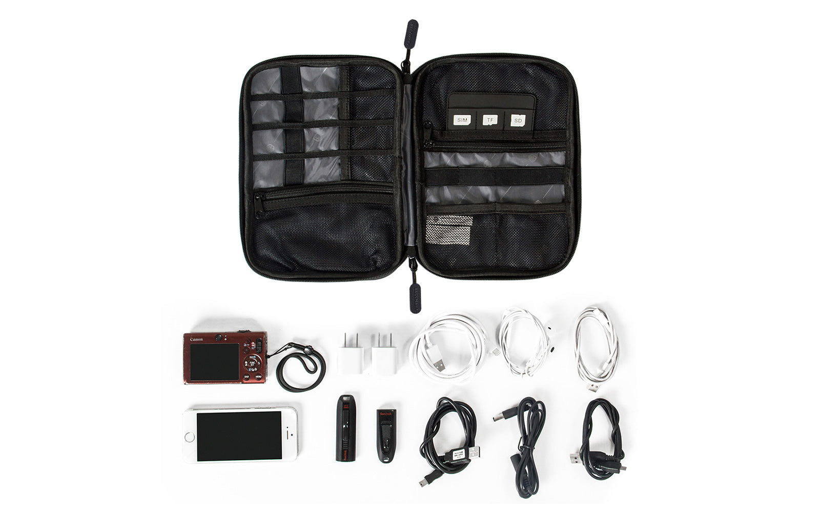 Travel Universal Cable Organizer Electronics Accessories Cases For Phone, Charger and Cable