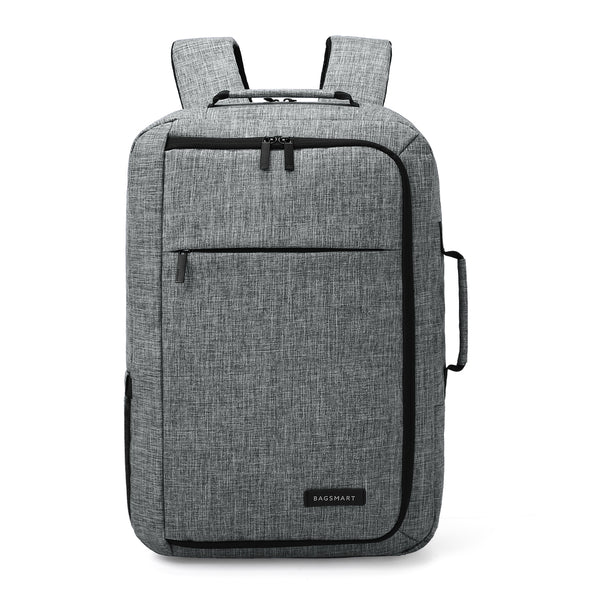 Men's Laptop Backpack Convertible Briefcase Water-Resistant 2-in-1 Business Travel Luggage Carrier Fits up to 15.6 Inches Laptops