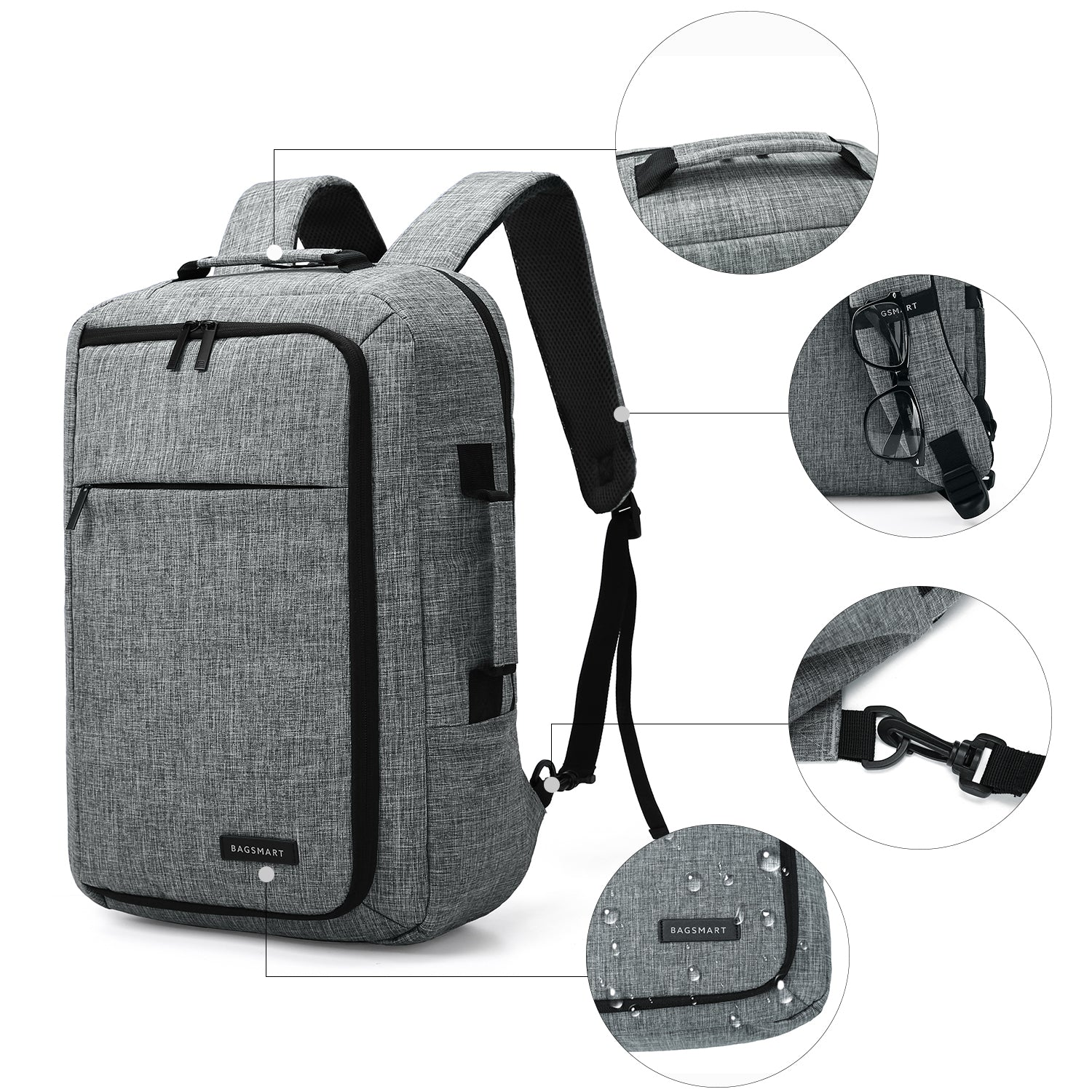 Men s Laptop Backpack Convertible Briefcase Water-Resistant 2-in-1 Business  Travel Luggage 8a3686a791087