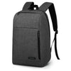 BAGSMART Business Laptop Backpack Water Resistant Slim School Backpack Fits Up To15.6 Inch Laptops Notebook Tablets Dark Gray