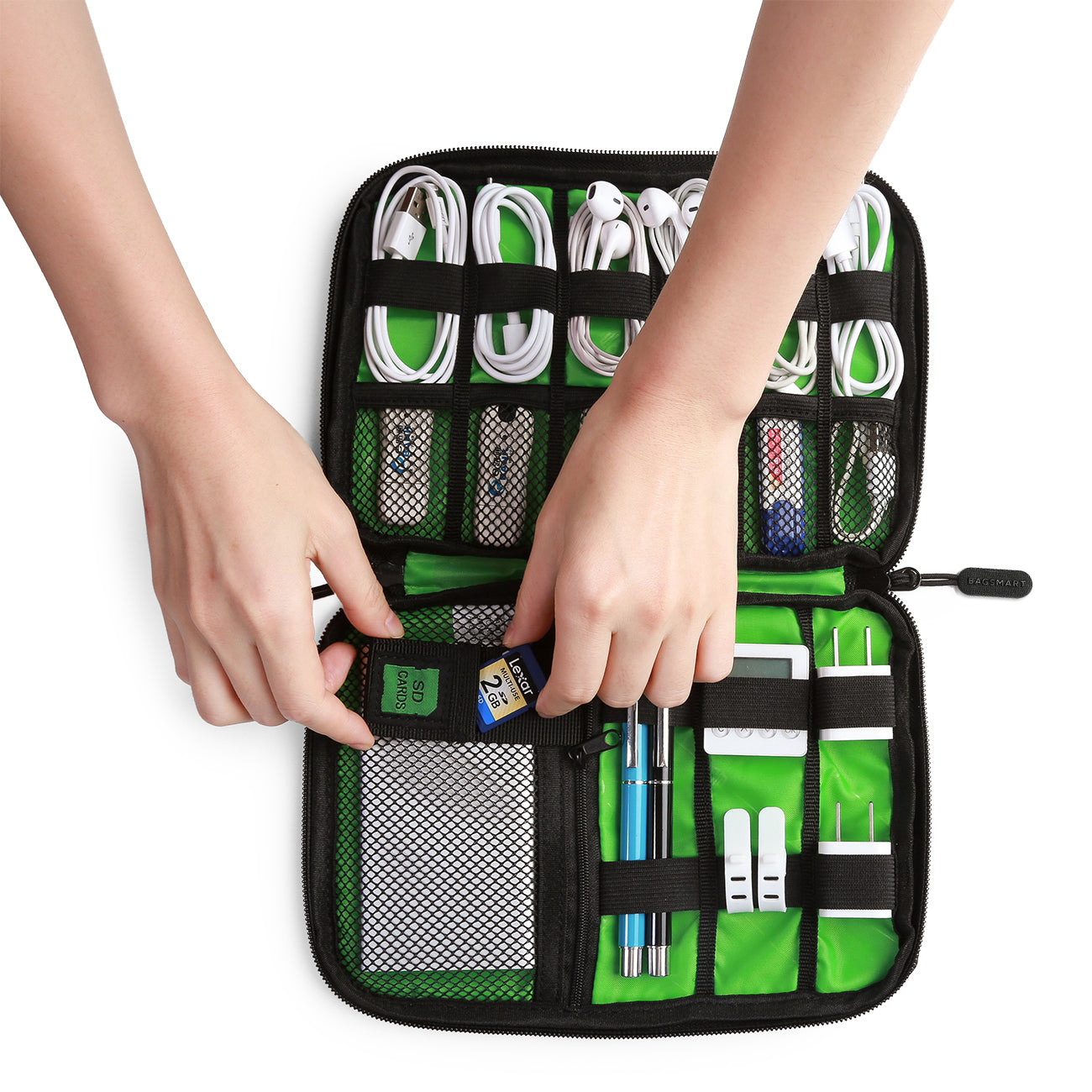 Elegant Travel Cable Organizer Portable Electronics Accessories Cases For Hard  Drives, Charging Cords, USB Charger