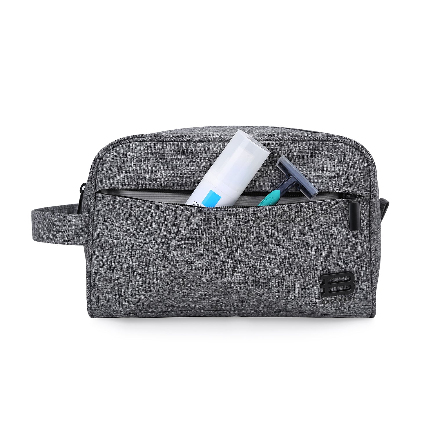 cf134584ce12 Compact Waterproof Toiletry Travel Bag Organizer Handy Makeup Cosmetic Bag  Carry on Dopp Shaving Kit for