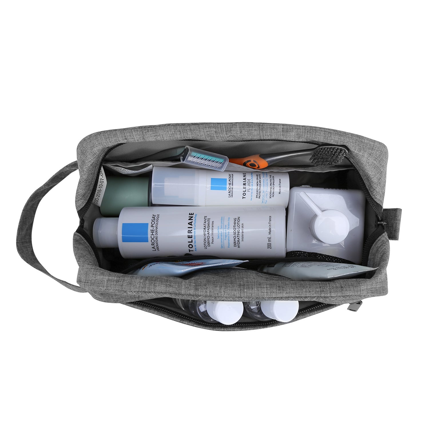 29da71bef6 Compact Waterproof Toiletry Travel Bag Organizer Handy Makeup Cosmetic Bag  Carry on Dopp Shaving Kit for