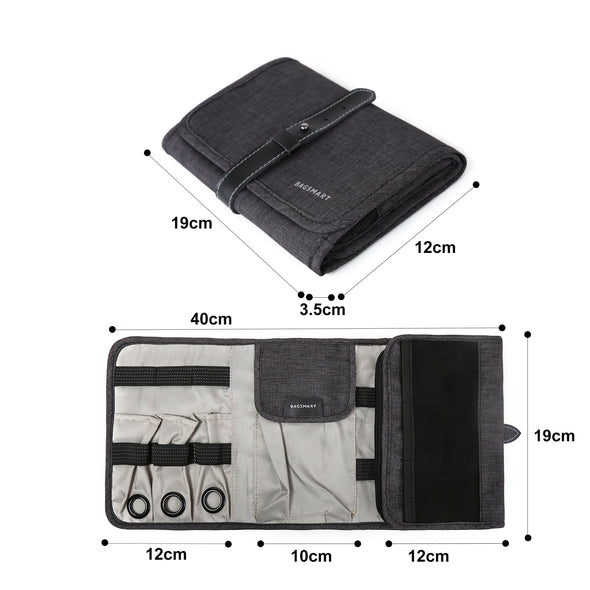 BAGSMART Compact Travel Cable Organizer Portable Electronics Accessories Bag Hard Drive Case for Various USB, Phone, Charger
