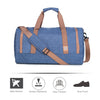40L Duffel Bag Large Foldable Weekend Travel Shoulder Handbag Overnight Gym Carry-on with Shoe Bag