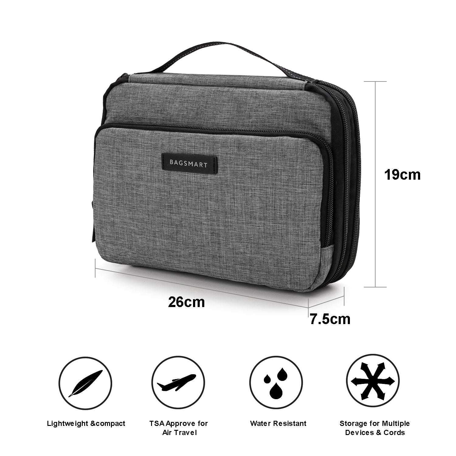 Lightweight Digital Bag Cable Organizer Charger Holder Portable Storage Pouch N3