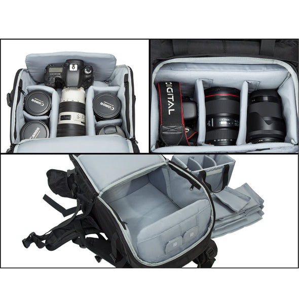 "Anti-theft Professional Gear Backpack for SLR/DSLR Cameras & 15"" Macbook Pro with Waterproof Rain Cover"