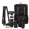 "Camera Backpack for SLR/DSLR Cameras & 15"" Macbook Pro with Waterproof Rain cover"