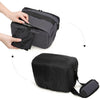 Digital SLR Camera Compact Gadget Bag with Adjustable Compartment Shoulder Strap For Canon Nikon And More