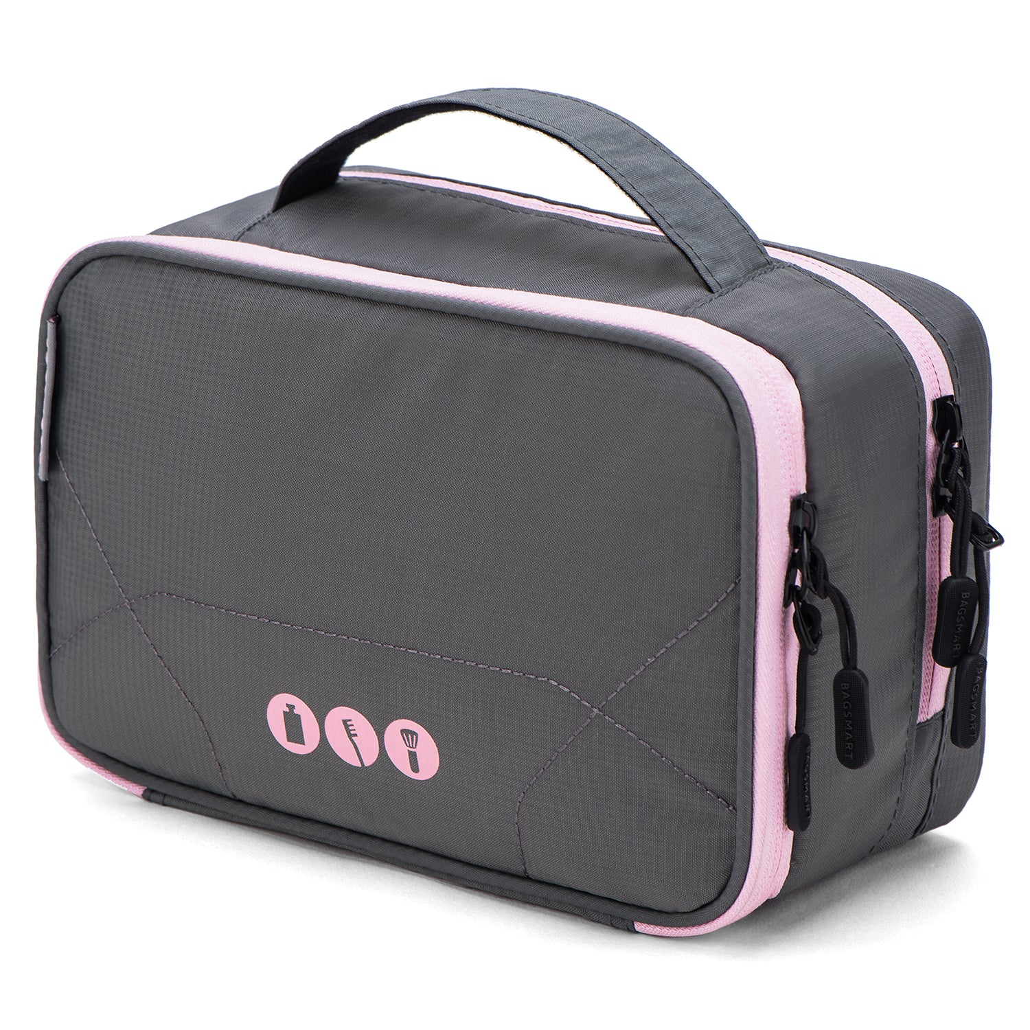 c2203a5a7f2d Double-layer Travel Toiletry Bag Portable Makeup Cosmetic Bag Travel Kit  Organizer