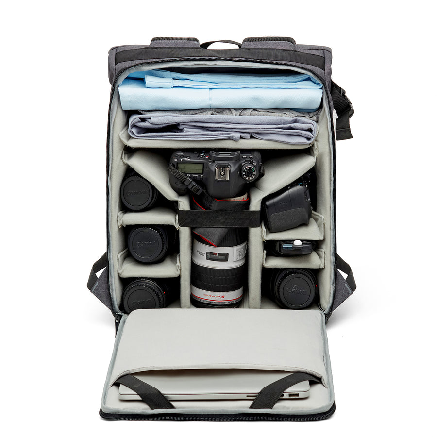 Toronto Camera Backpack-Black