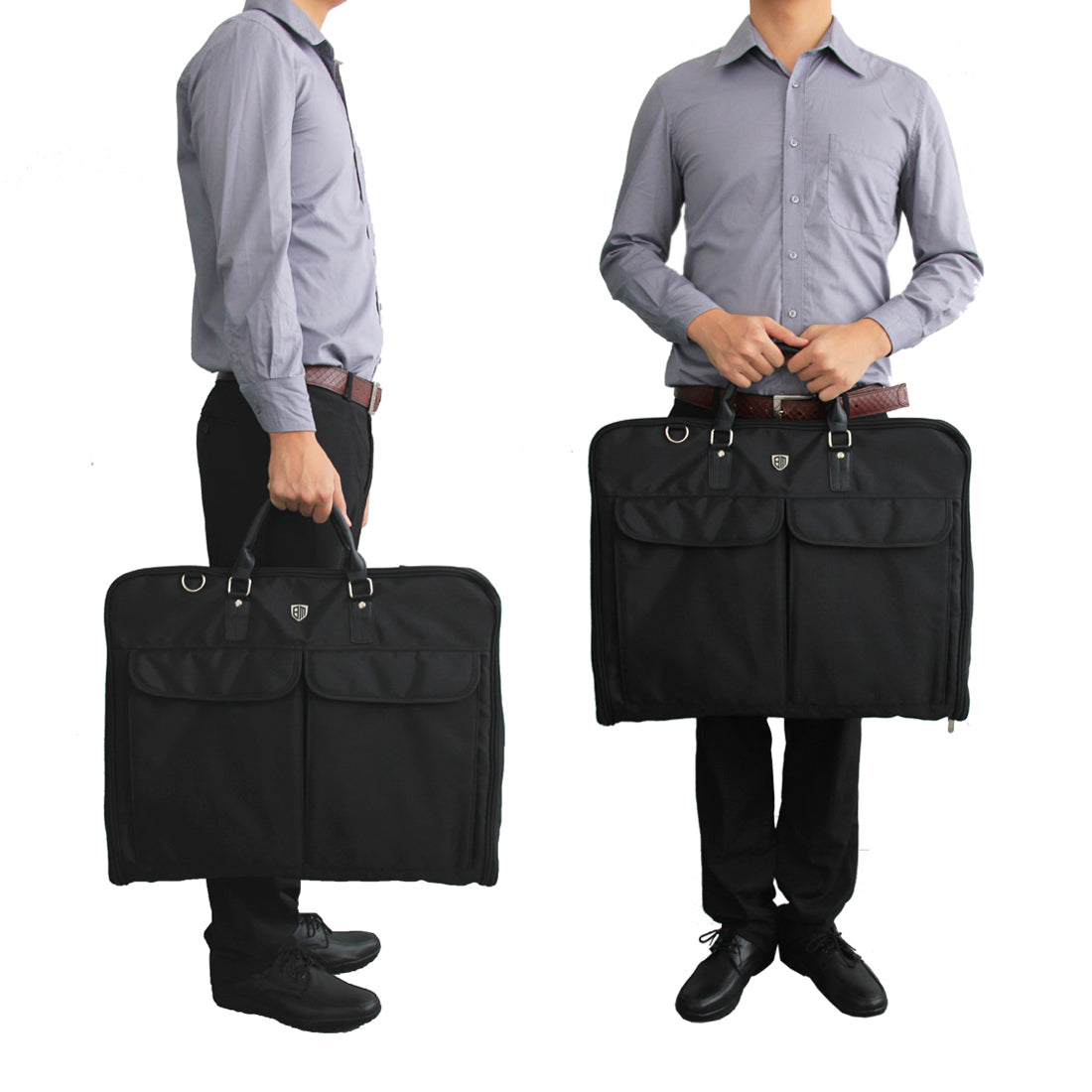 a0845ddb81 Garment Bag for Suits and Wedding Dresses with Shoulder Strap and Hanger