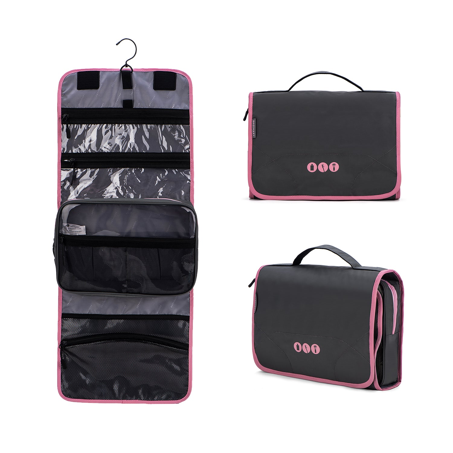 Hanging Travel Toiletry Bag Carry-on Makeup Organizer Folding Cosmetic Bag  Unisex fbd8a9f5d878c