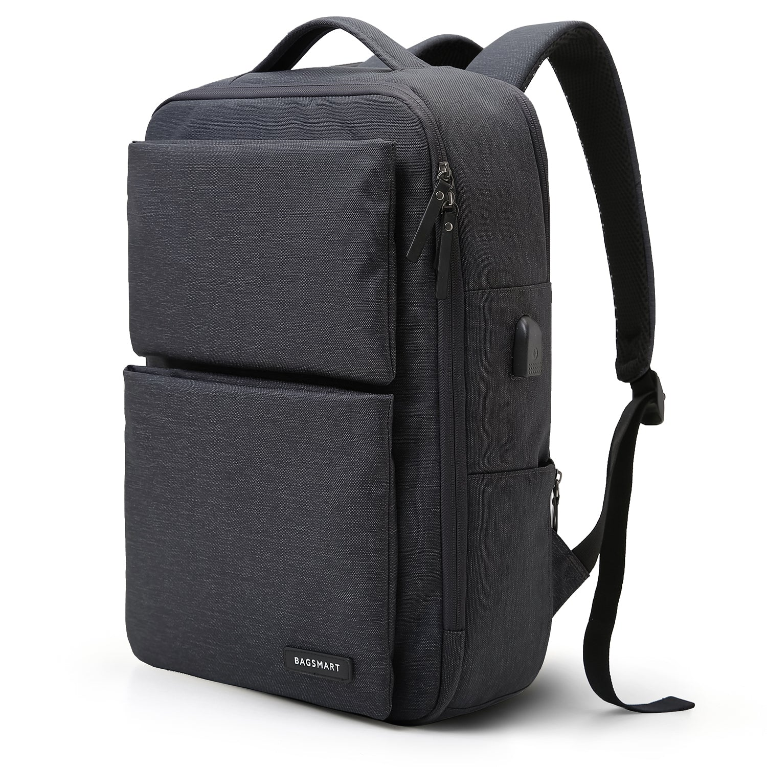 c640dc2a0b Laptop Backpack Business Bags with USB Charging Port Anti-Theft Water  Resistant Polyester School Bookbag