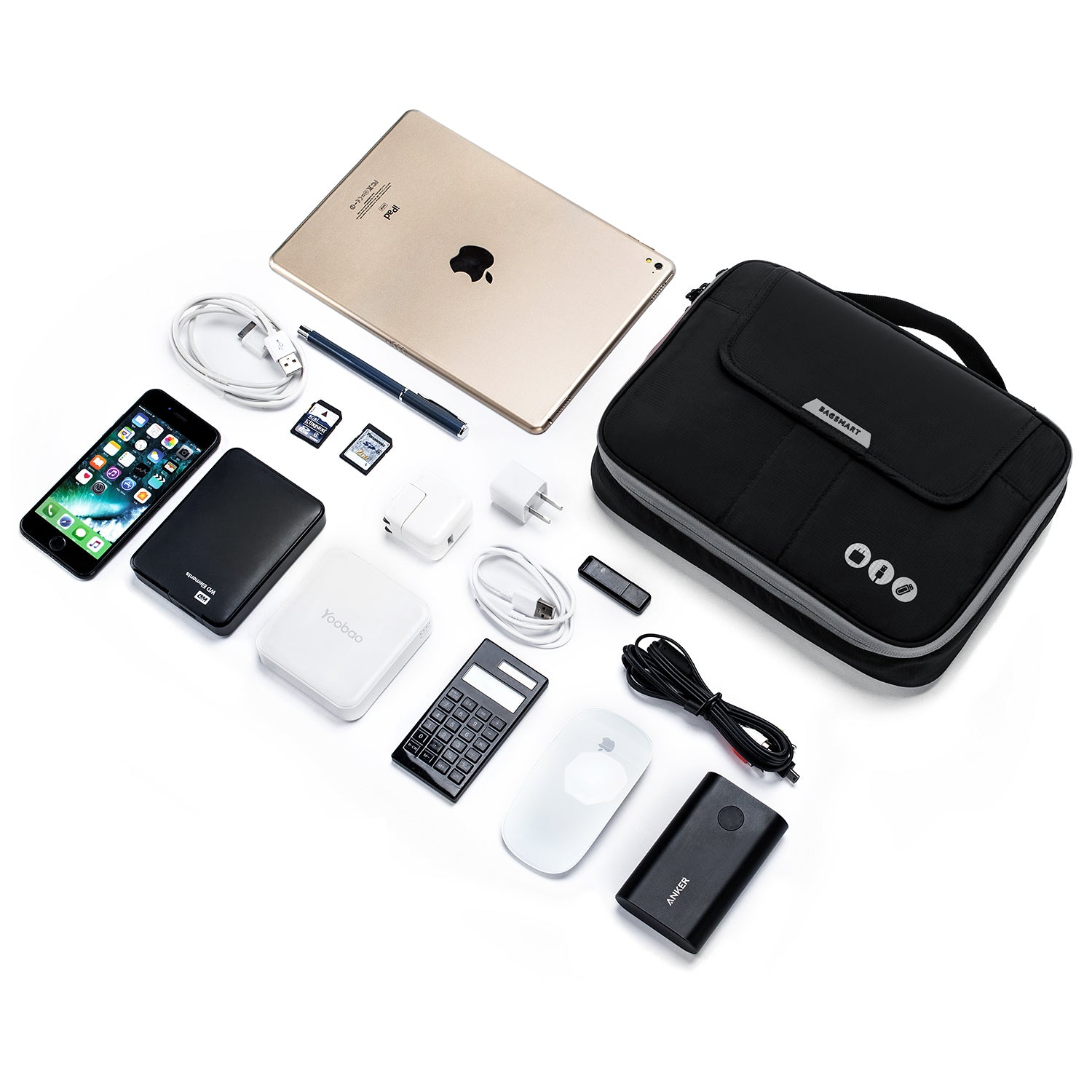 Charger USB SD Card Phone OE-Blue Electronic Organizer Travel Universal Cable Organizer Cable Cord Bag Electronics Accessories Cases Storage Bag Waterproof for Cable Power Bank