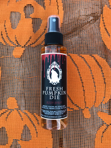 FRESH PUMPKIN DIE BODY SPRAY
