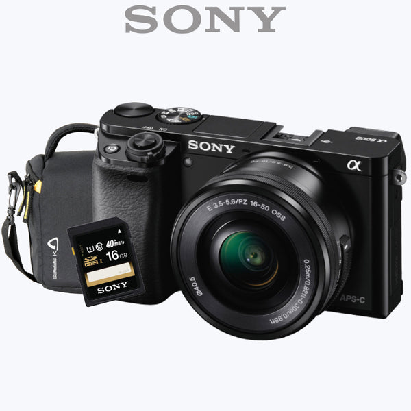 Sony Alpha a6000L Mirrorless Digital Camera with 16-50mm + 55-210mm Lens
