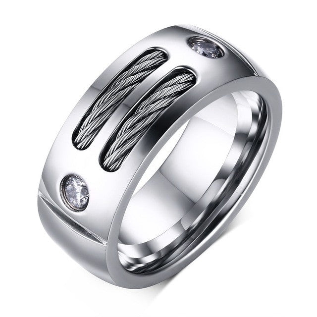 Punk Rock Ring,8 / Silver