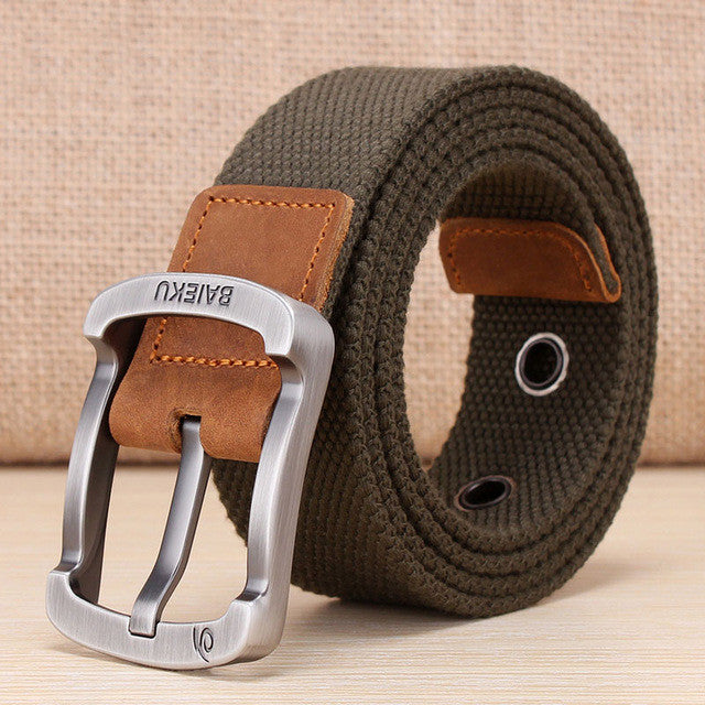 High Quality Belt For Jeans / Multiple Colors,Army green / 105cm