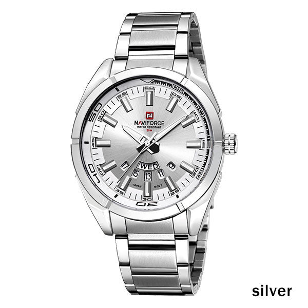 Sport Quartz Waterproof Watch,silver
