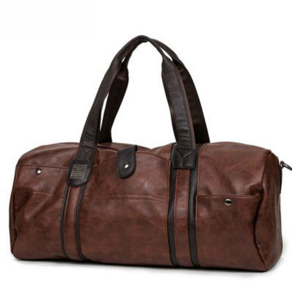 "Oil Wax Leather Bag (20""x 9""x 8/12""),Brown"