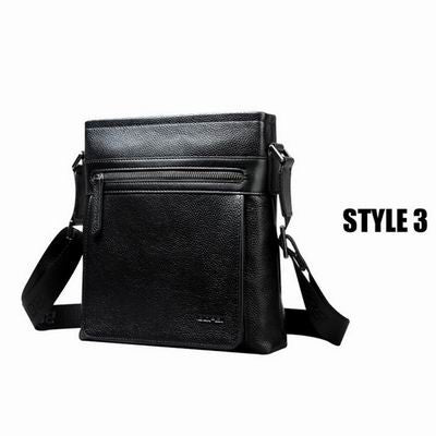 "Genuine Leather Men Accessories Bag (11""x10""),Style 3"