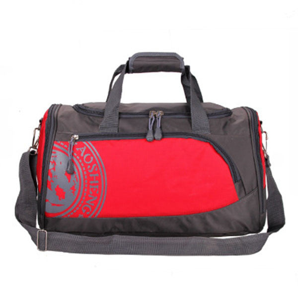 "Nylon Gym Bag / Multiple Colors (18""x 10 x 81/2""),Red"