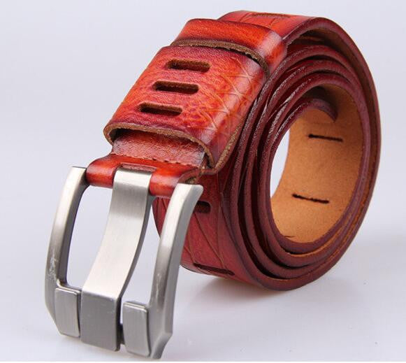 High Quality Designer Belt / Multiple Colors,red / 105cm