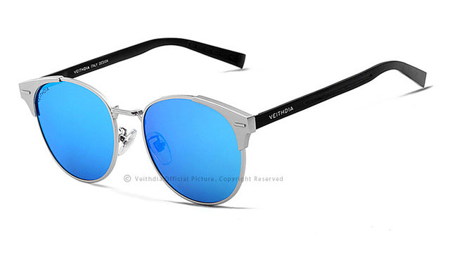 Retro Aluminum Brand Sunglasses,Blue / China