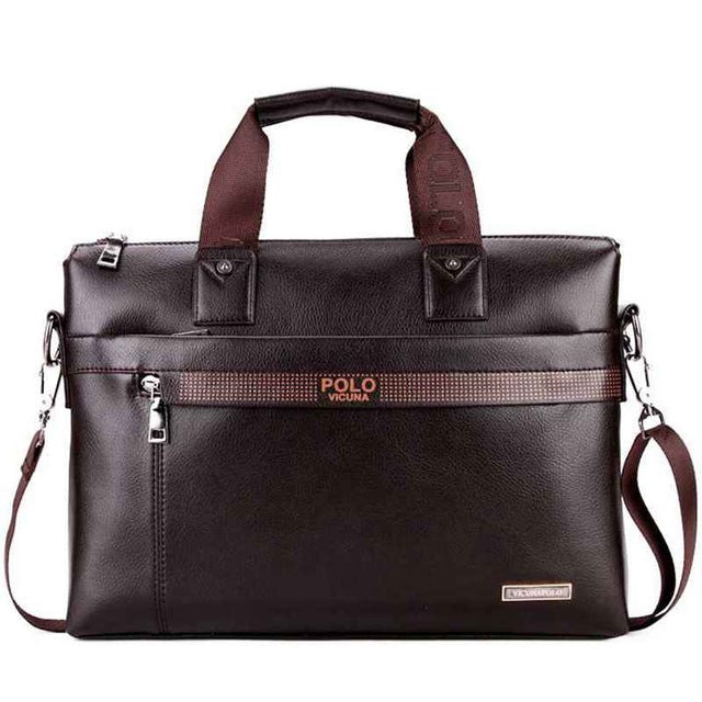Fashion Simple Dot Business Men Briefcase,Brown / China