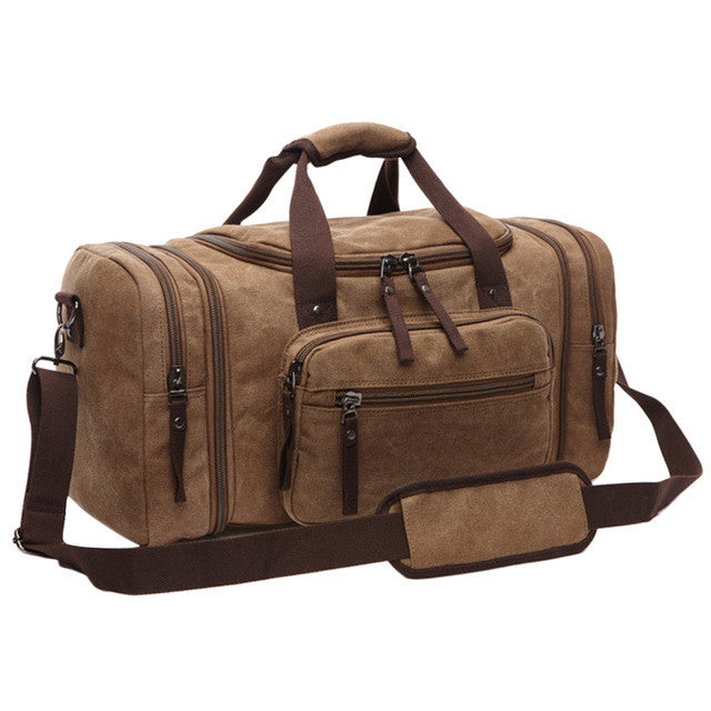 "Quality Canvas Travel Bag / Multiple Colors (21""x 12""x 10""),Coffee"