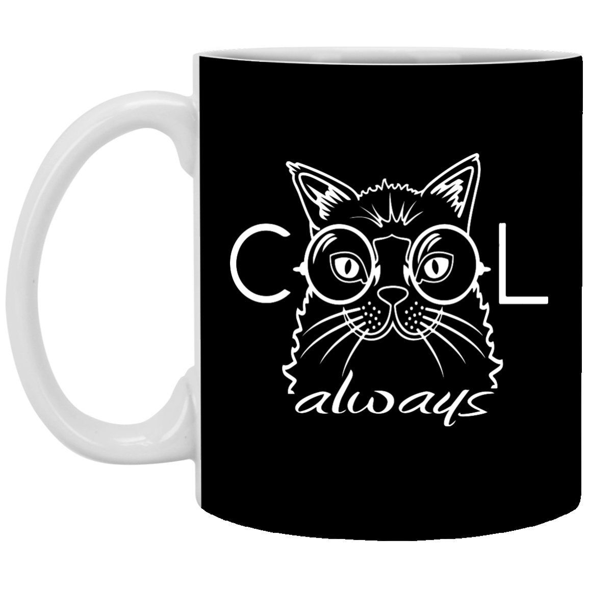 Cat Glasses Cool Away Mug