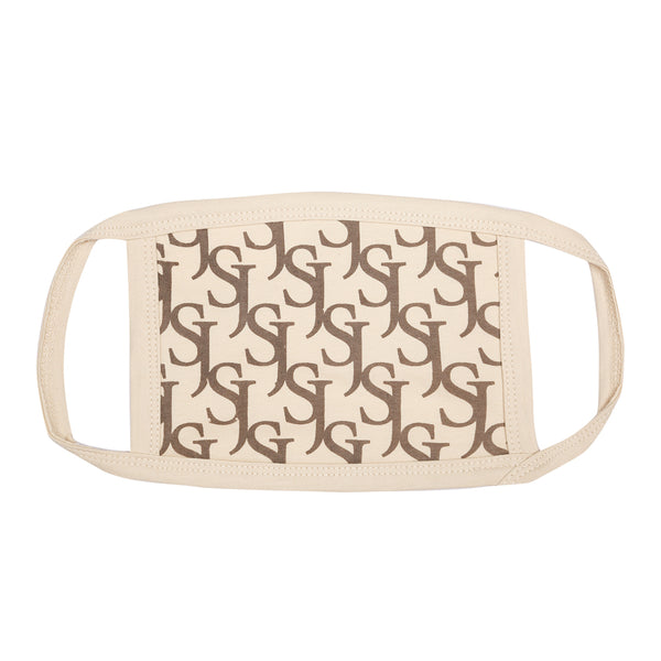 Monogram mask beige