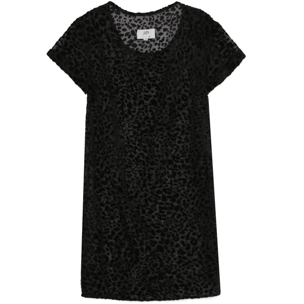 Leopard sheer dress black