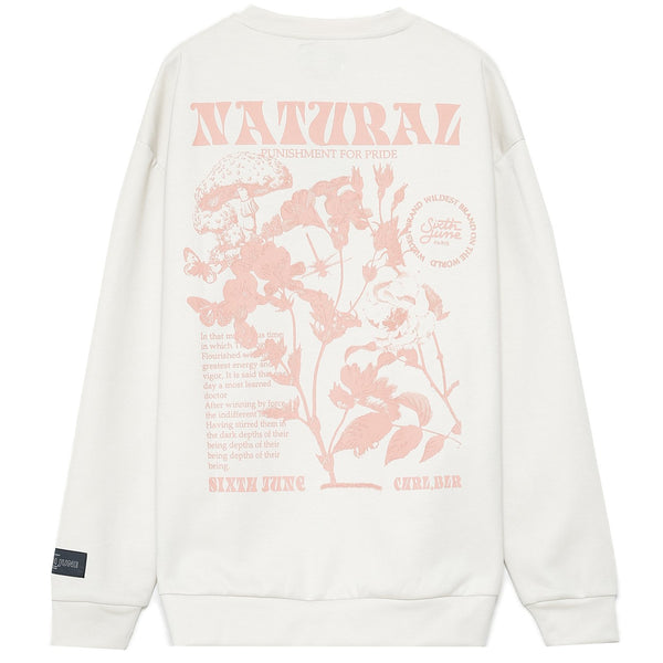 Natural pastel sweater white