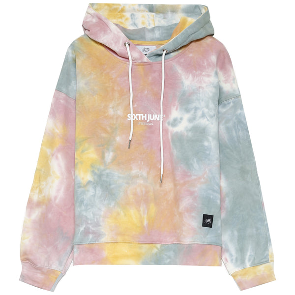 Sweat capuche multicolores jaune
