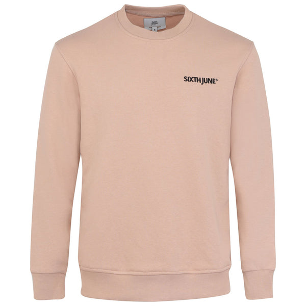 Soft embroidered logo sweatshirt beige