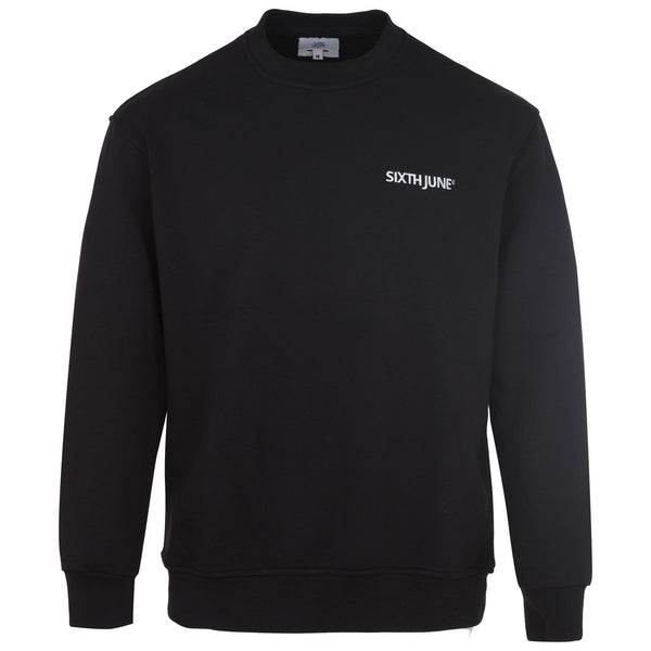 Soft embroidered logo sweatshirt black