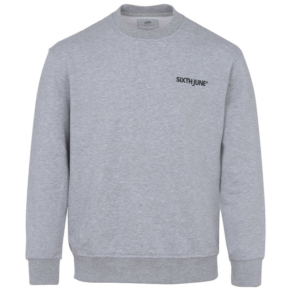 Soft embroidered logo sweatshirt grey