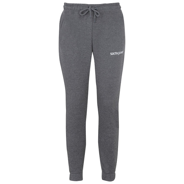 Soft embroidered logo joggers grey