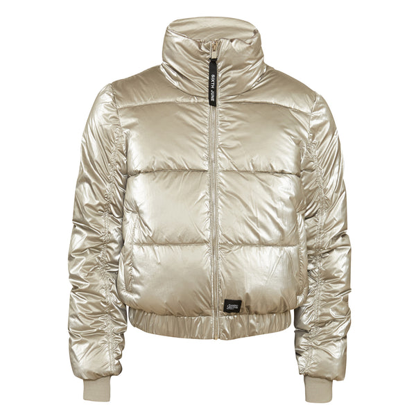 Glossy down jacket gold