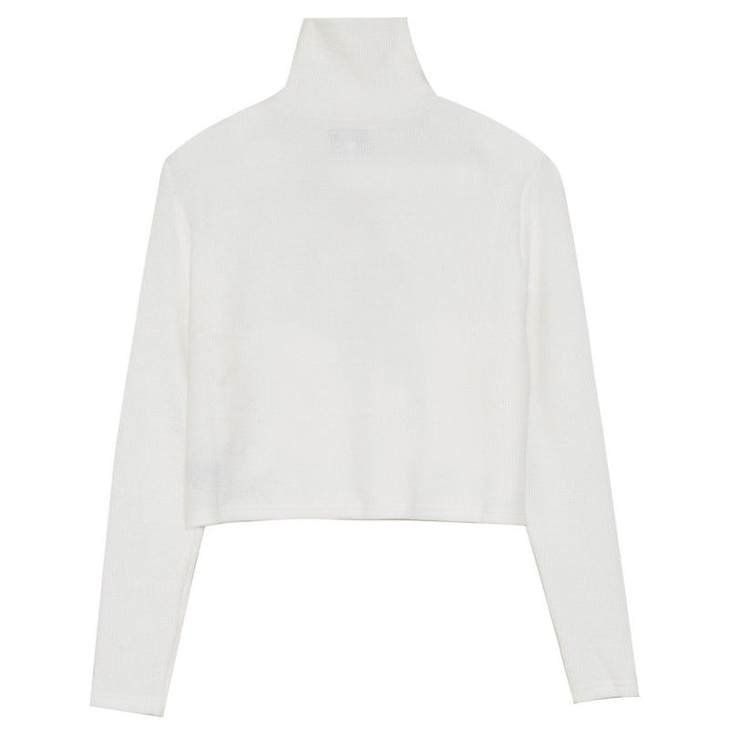 Pull maille court utilitaire blanc
