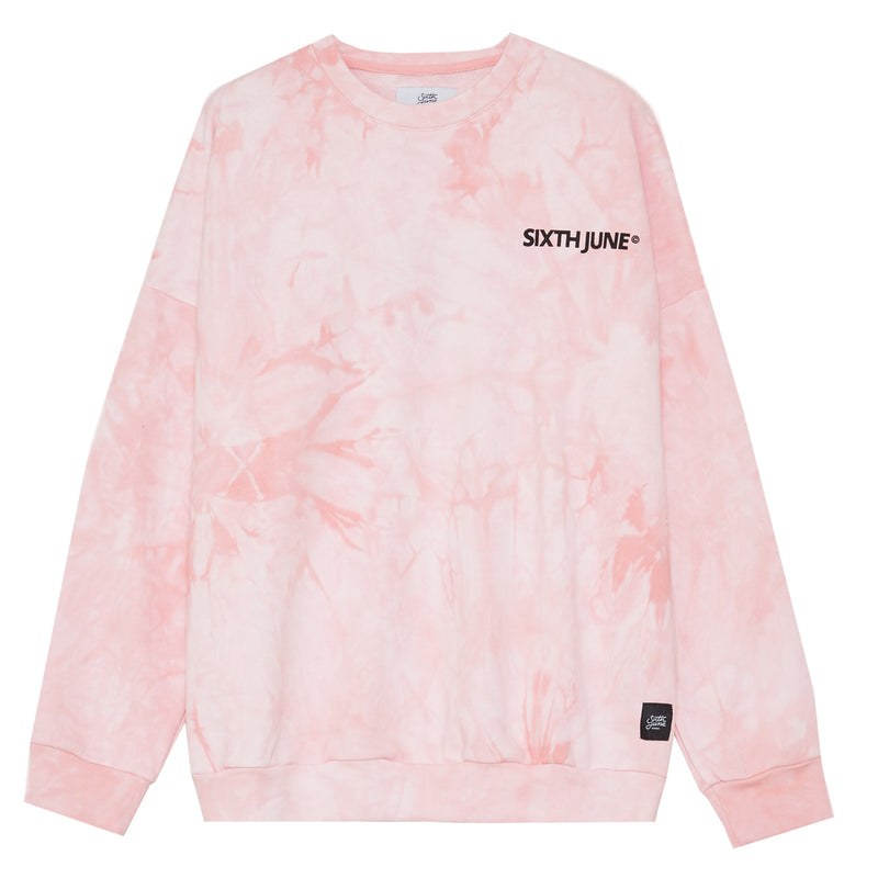 Sweat tie and dye rose