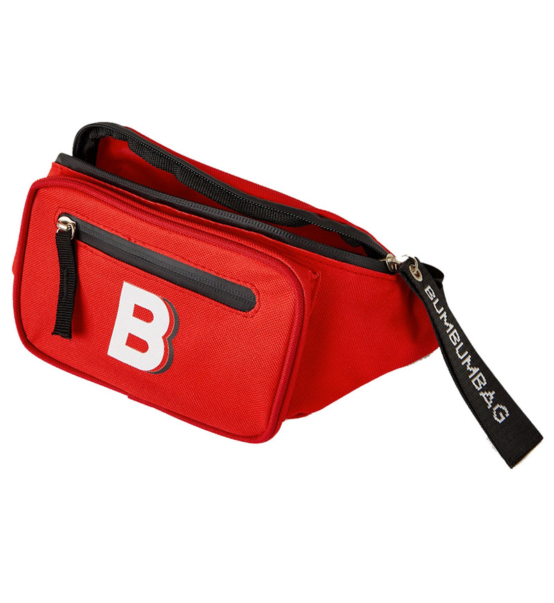 Sac banane logo double zips rouge