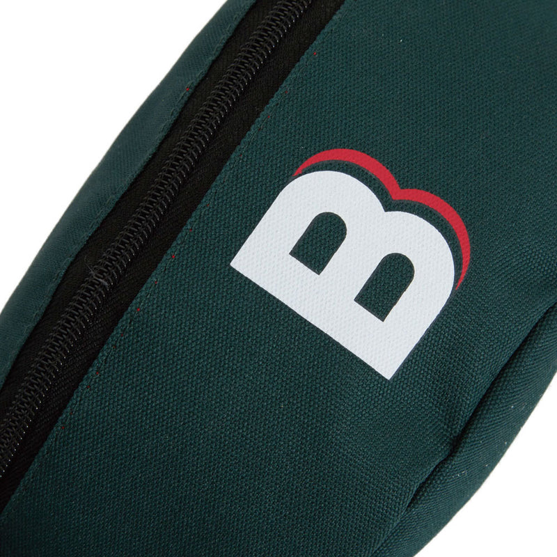 zipped logo chest bag green