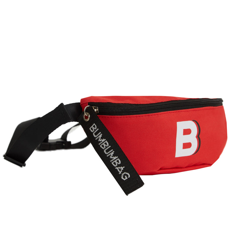 Sac banane logo zip rouge