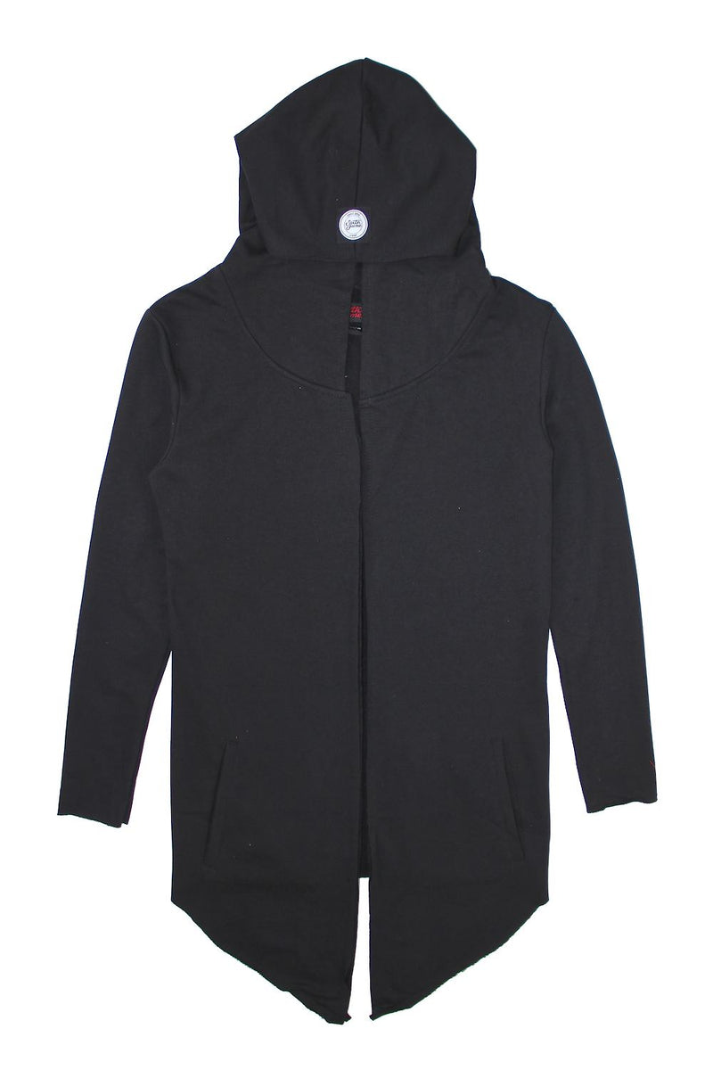 Gilet long capuche noir Sixth June