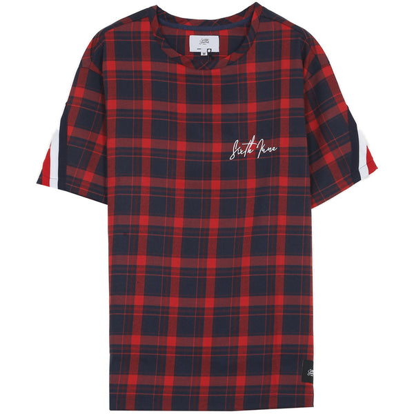 tartan french flag tee