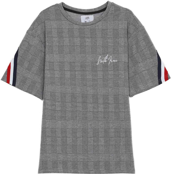 wales check french flag tee