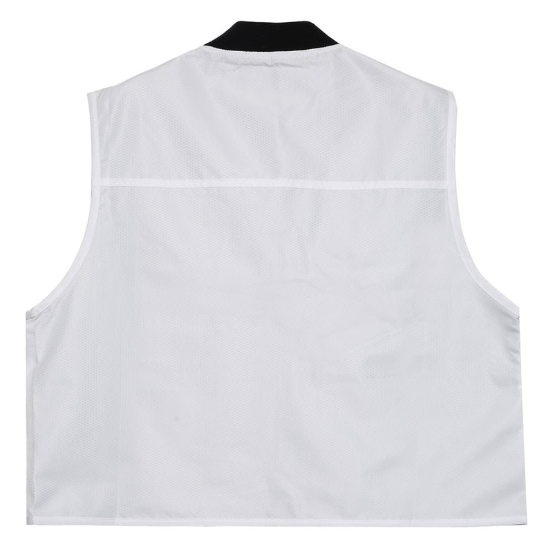 Gilet multipoches court blanc